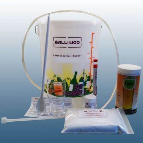 Balliihoo® Basic Homebrew Starter Equipment Kit with 40 Pint Cider De Luxe & 1Kg Brewing Sugar