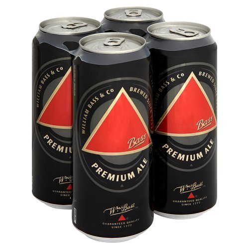 William Bass & Co Traditional Draught Premium Ale Can, 4x500ml