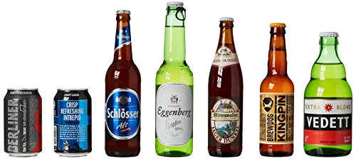 Beer Hawk World Lager Discovery Mixed Case, 12 beers – Perfect Summer BBQ Beer Pack