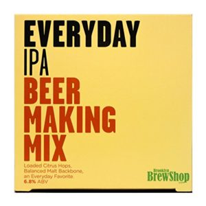 Brooklyn Brew Shop Everyday IPA Beer Making Mix: All-Grain Beer Making Mix Including Malted Barley, Hops and Yeast – Perfect for Brewing Craft Beer On Your Stove at Home