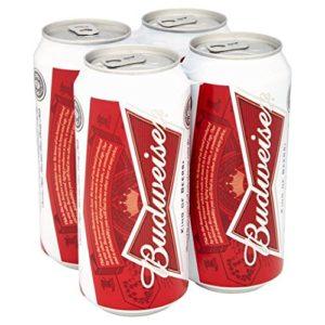 Budweiser Beer Cans 4 x 440ml