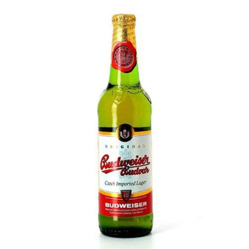 Budweiser Budvar Czech Pilsner (24 x 330ml Bottles)