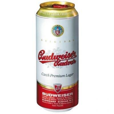 Budweiser Budvar Czech Pilsner (24 x 500ml Cans)
