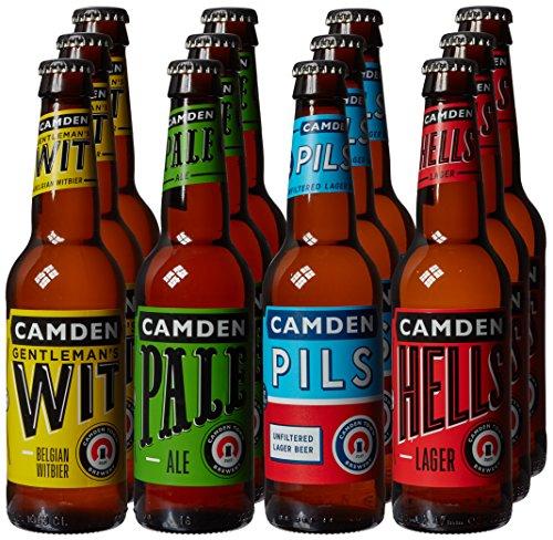 Camden Town Brewery 12 Bottle Mixed Case Beer, 12 x 330ml