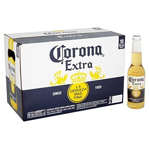 Corona Extra Mexican Lager Beer Bottle, 18 x 330ml
