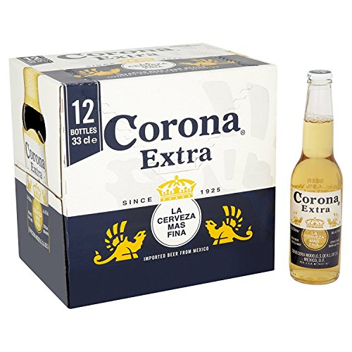 Corona Extra Mexican Lager Beer Bottle, 12 x 330ml