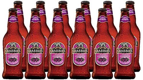 Crabbies Alcoholic Raspberry Ginger Beer, 12 x 330 ml