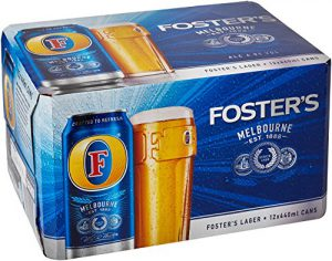 Fosters Lager Beer Can 440 ml (Case of 12)