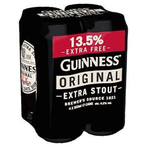 Guinness Original X-Fill Cans, 4 x 500ml