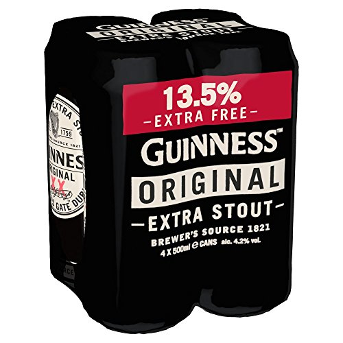Guinness Original X-Fill Beer, 4 x 500 ml Cans