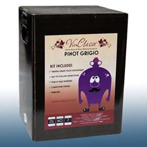 VinClasse® Pinot Grigio White Wine 7 Day Ingredient Kit for 30 Bottles
