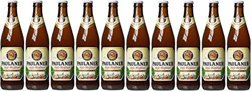 Paulaner Hefe-Weizen Natural Wheat Beer, 10 x 500 ml