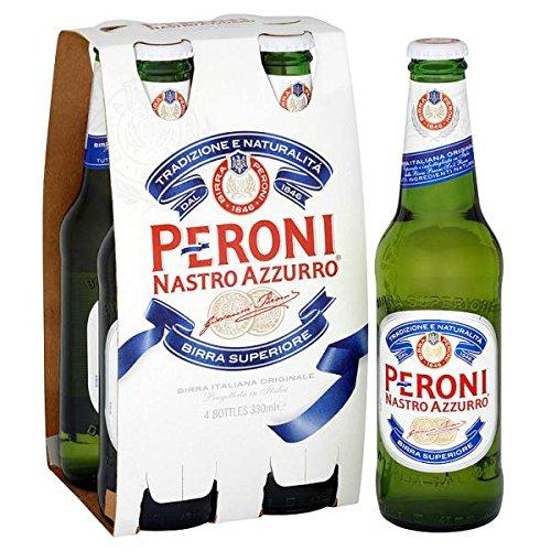 Peroni Nastro Azzurro 4 x 330ml (Pack of 6 x 4x330ml)
