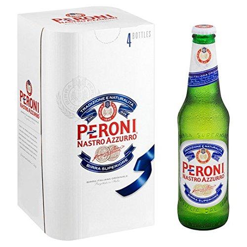 Peroni Nastro Azzurro Lager Bottle, 4 x 330ml