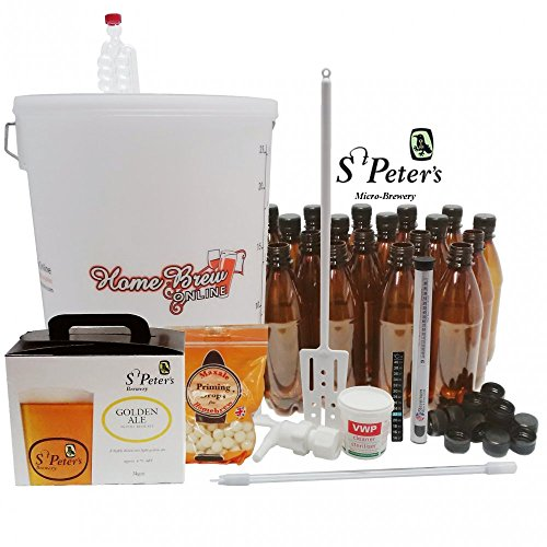 St Peters Micro Brewery Home Brew Beer Complete Starter Kit – Golden Ale