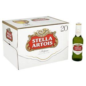 Stella Artois Premium Lager Beer Bottle, 20 x 284ml