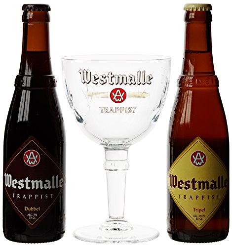 Westmalle Gift Pack with Glass, 2 x 330 ml