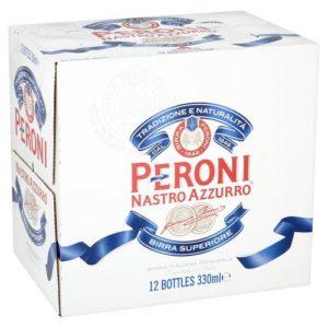Peroni Nastro Azzurro Lager Bottle, 12 x 330ml