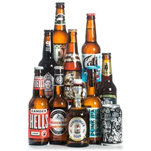 Beer Hawk Craft Beer Mixed Case Gift Set – 10 Beer Selection Inc Pale Ale, IPA & Pilsner Perfect Christmas Hamper Gift…