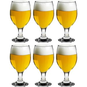 Rink Drink Snifter Beer Glasses – Tulip Style Glass for Real Ale and IPA – Dishwasher Safe – 400ml – Pack of 6