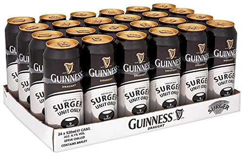 Guinness Draught Surger Stout Beer, 24 x 520ml