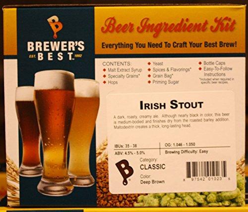 Brewer's Best – 1023 – Home Brew Beer Ingredient Kit (5 gallon), (Irish Stout) Yellow