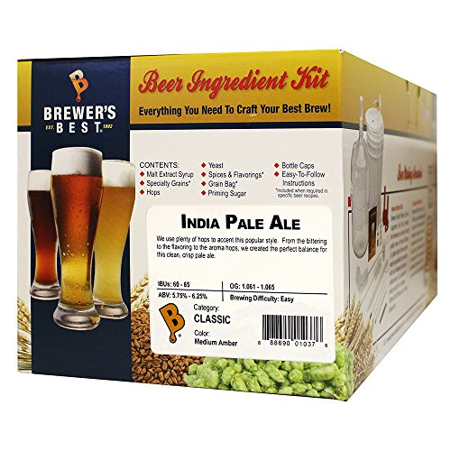 Brewer's Best – 1037 – Home Brew Beer Ingredient Kit (5 Gallon), (India Pale Ale) Yellow