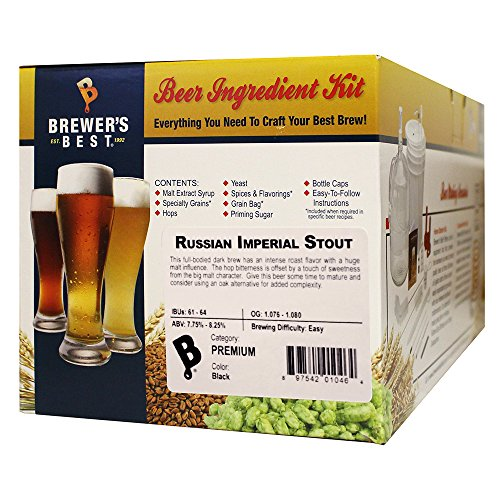 Brewer's Best – 1046 – Home Brew Beer Ingredient Kit (5 Gallon), (Russian Imperial Stout) Yellow