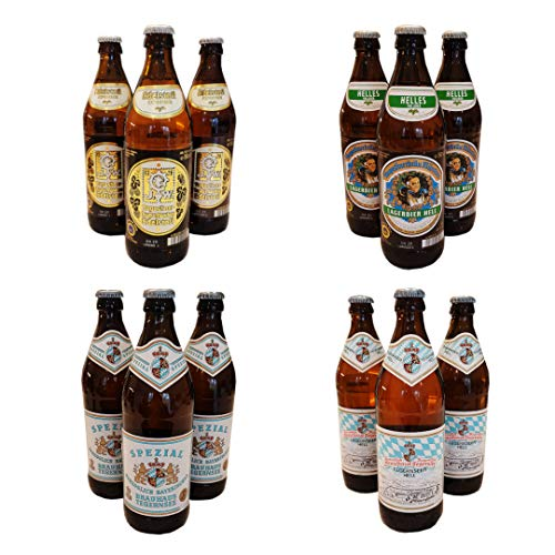 12 x Large 500ml Premium German Edition Luxury Mixed Lager Box, German Beer Selection (Tegernseer & Augustiner)