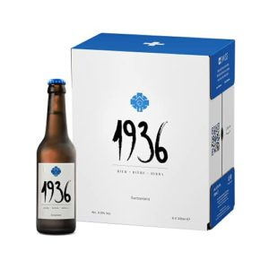1936 Bière 0.0% – Alcohol Free Premium Lager from the Heart of the Swiss Alps – Perfect Beer Gift Set – (6 x 330ml…