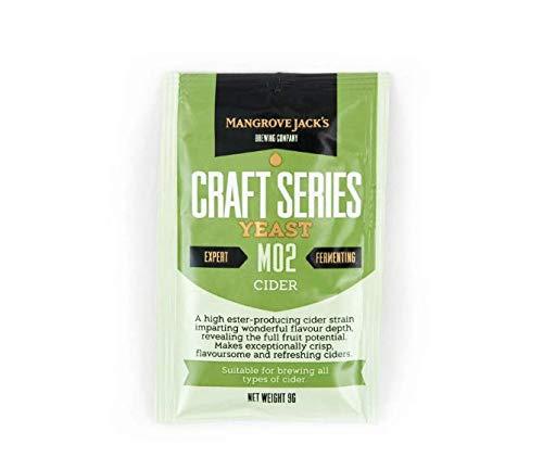 2x Mangrove Jack's Yeast Cider M02 Craft Series Yeast 9g treats 23L by Mangrove Jack