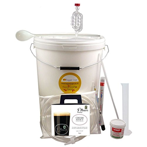 36 Pint (4.5 Gallon) Homebrew Beer Making Starter Kit – St Peters Cream Stout, Home Brew Microbrewery