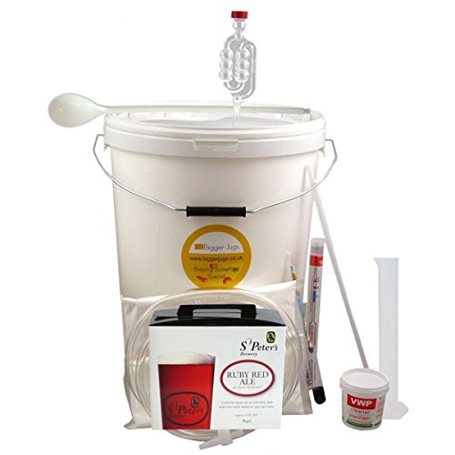 40 Pint (5 Gallon) Homebrew Beer Making Starter Kit – St Peters Ruby Red Ale, Home Brew Microbrewery
