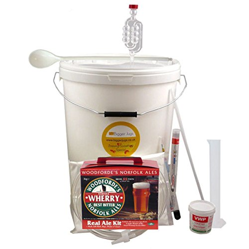 40 Pint (5 Gallon) Homebrew Beer Making Starter Kit – Woodfordes Wherry Bitter, Home Brew Microbrewery