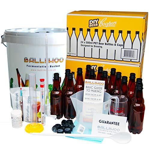 Balliihoo® Complete Home Brew Equipment Starter Set – with Bottles