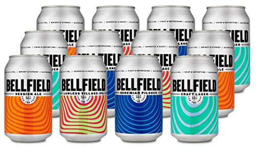 Bellfield Brewery: Mixed Taster Pack (12x330ml cans gluten-free beer)