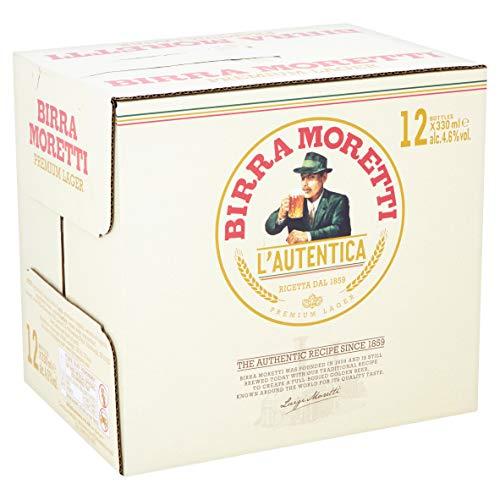 Birra Moretti Premium Italian Beer Bottles, (12 x 330ml)