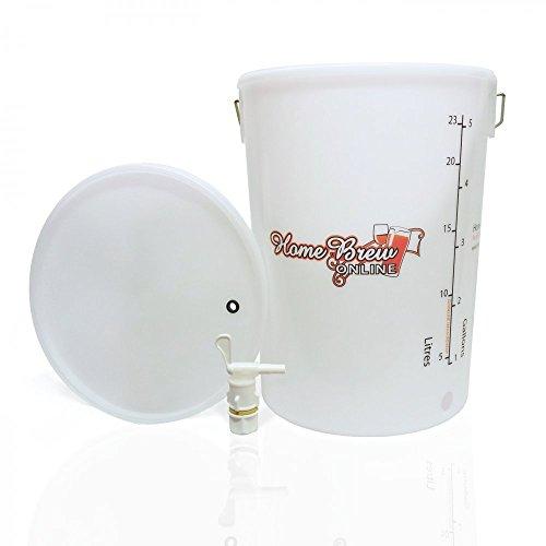 Bored Fermenting Vessel 25 LTR. Inc. Tap/Backnut
