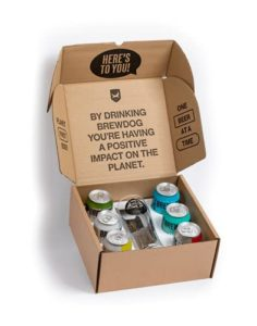 BrewDog – Craft Beer Gift Pack – 6 x 330ml Can and 1 x Schooner Glass – Various ABV% – Variety Pack: PUNK IPA, HAZY JANE…