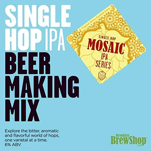 Brooklyn Brew Shop Mosaic Single Hop IPA Beer Making Kit (1 US gallon/3.8L)