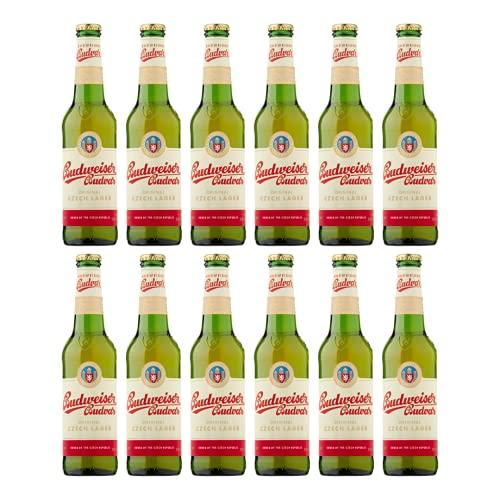 Budweiser Budvar Czech Lager 330ml Bottles – 5% ABV (12 Pack)
