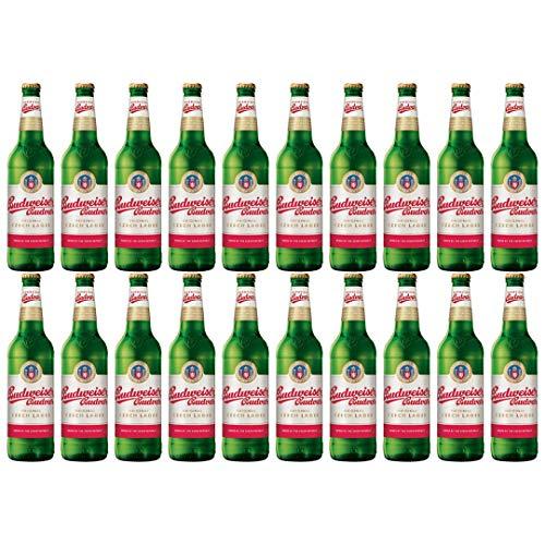 Budweiser Budvar Czech Lager 500ml Bottles – 5% ABV (20 Pack)
