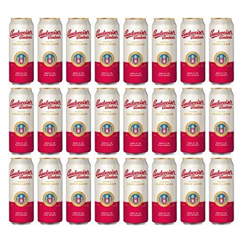 Budweiser Budvar Czech Lager 500ml Cans – 5% ABV (24 Pack)