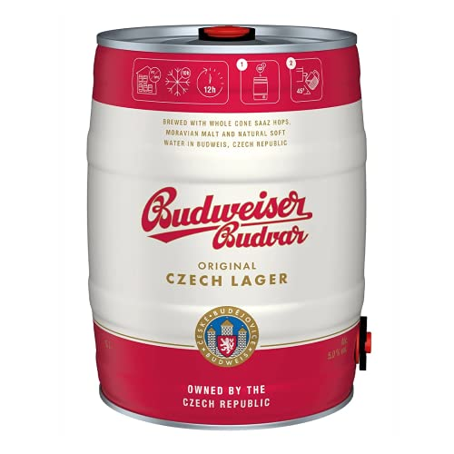 Budweiser Budvar Premium Czech Lager Single 5ltr Mini Keg – 5.0% ABV
