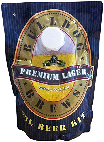Bulldog Lager Premium Beer Kit 23L/40 Pints Homebrew Beer Making