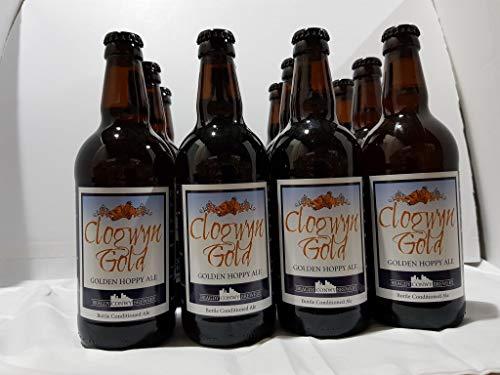 Conwy Brewery Clogwyn Gold bottles, 500 ml