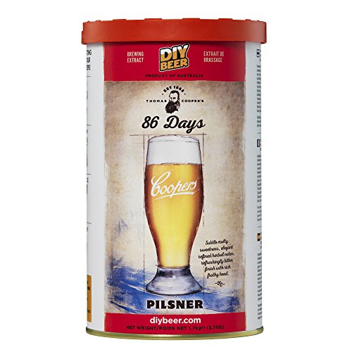Coopers 827 86 Days Pilsner Homebrewing Hopped Malt Extract Thomas Brew Can
