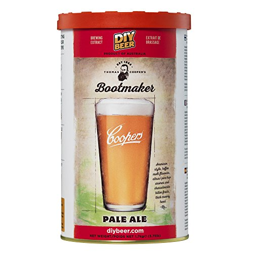 Coopers 835 Bootmaker Pale Ale Homebrewing Hopped Malt Extract Thomas Brew Can