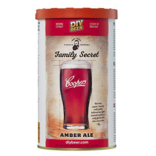 Coopers 836 Thomas Family Secret Amber Ale Brew Can
