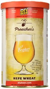 Coopers 837 Preacher's Hefe Wheat Homebrewing Hopped Malt Extract Thomas Beer Brew Can
